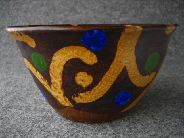 黄瀬戸唐草鉢